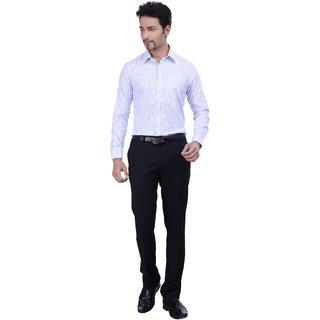 Validus Formal Check Full Fleeve Black shirt