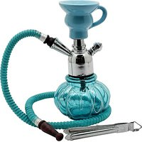 HPA Uniquely Designed-Decoartive Stylish Portable 8 inch Glass Hookah