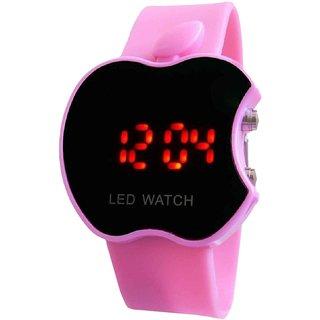 Prushti pink Apple Digital Led For kids watch
