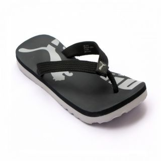 Puma Mens White  Black Flip Flops