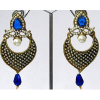 Dark Blue Drop Pearl Earring