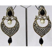 Black Drop Stone Earring