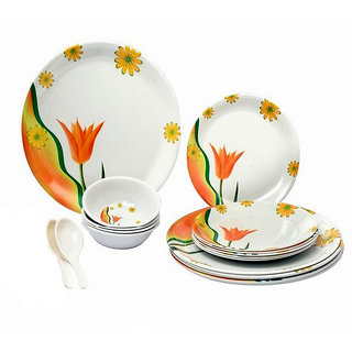 Attractive Melamine Dinner (Set Of 12 Pcs)