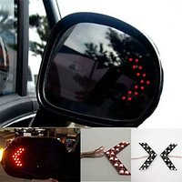 2 Pcs LED Arrow Panel light For Car Rear View Mirror Indicator Turn Signal Red