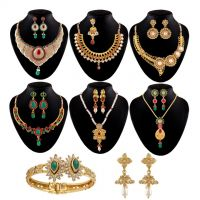 Shital Jewellery Multicolor Gold Plated Set Of 8 Jewellery For Women