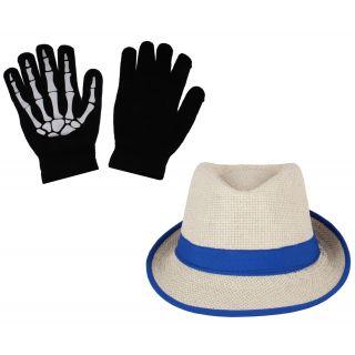 sushito Fidora Hat For Women With Hand Gloves JSMFHCP1307-JSMFHHG0037