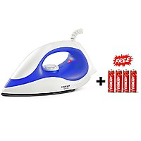 Eveready DI100 Plastic body Dry Iron 750W With Free Eveready 4 Battery