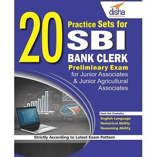 20 Practice Sets for SBI Bank Clerk Preliminary Exam (Paperback) (English)