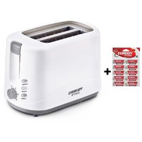 Eveready PT102 2 Slice Pop Up Toaster With Free Eveready 10 Battery