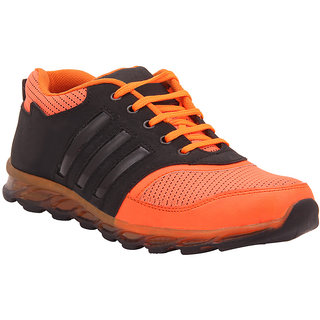 Foot n Style Mens Orange Lace-up Sports Shoes