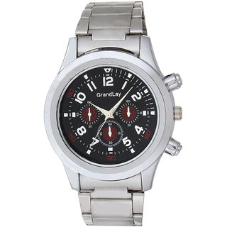 GRANDLAY GL-1078 BLACK  PETROL EDDITION  WATCH FOR MEN