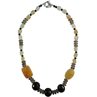 "Pearlz Ocean Aventuine, Black Agate, Citrin And Smoky Quartz 18""Fashion Beads Ne"