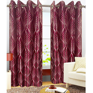 Vinayaka Polyester Window Curtains Set of two