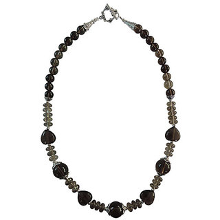 "Pearlz Ocean Smoky Quartz 18"" Fashion Beads Necklace"