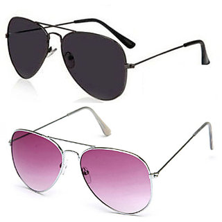 Magjons Trandy Black Aviator Sunglasses Combo With BoxMJ7702
