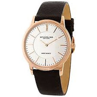 Stuhrling Original Newberry Brown Leather Strap Watches