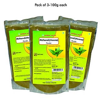 Herbal Hills Mehandi (Heena ) powder - 100 G Pack of 3