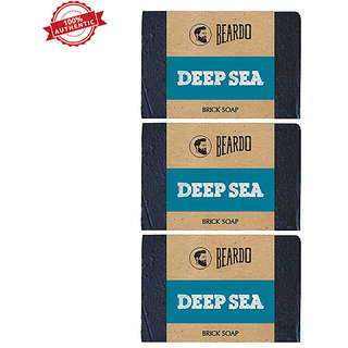 Beardo Pack Of 3 Deep Sea Brick Soaps 125 Gms Each