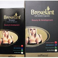 Combo Pack Of Brexelant Breast Cream & Capsules (For Beauty & Development)