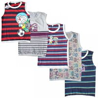 Jisha Fashion Boys sleeveless Tshirt asorted Color Combo of 5