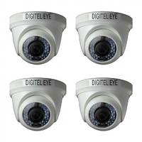 Digitel Eye Dome AHD Camera (Pack Of 4 Camera)