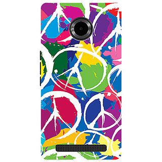 Garmor Designer Silicone Back Cover For Micromax Yu Yuphoria Yu5010 786974290066