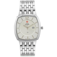 Swiss Military Unisex Stainless Steel Swiss Movement Date Watch