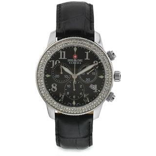 Swiss Military Stone Studded Women Chronograph Swiss Movement Watch