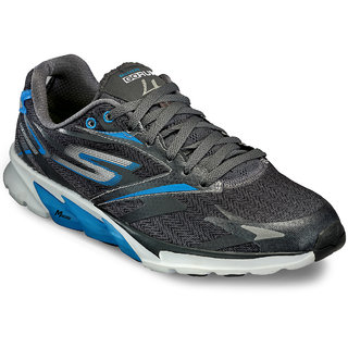 Skechers MenS Grey Running Shoes (53995-CCBL)