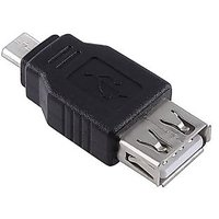 Male Micro USB To USB Female Receptacle Adapter Coupler