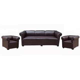 Tezerac -Tanner 3+1+1 Sofa Set - Dark Brown