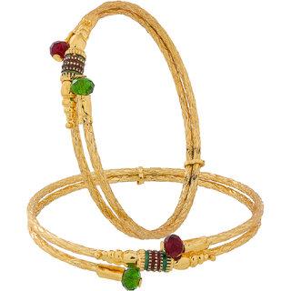 Luxor Multicolor Alloy Gold Plated Bracelets For Women