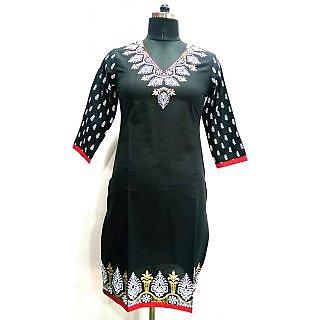 Jaypore Fashion Black Printed Kurti