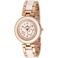 Swis Style Lr503 White Dial Metal Chain Analog Watch For Women