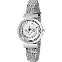 Swis Style Lr5055 White Dial Metal Chain Analog Watch For Women