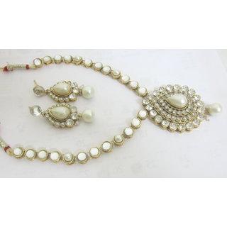 Designer Gold Plated Kundan Work Wedding Nacklace
