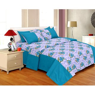 Salona Bichona Double Bedsheet with Two Pillow Covers DR-104C