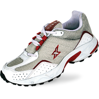 Sparx White Silver Red Colored Men's Lifestyle Shoes