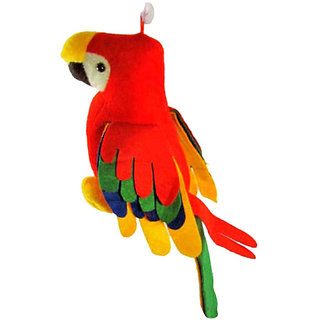 Musical Parrot Soft Toy 12 Inches With Tail 25 Inch