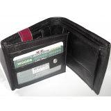Genuine Leather Top Grain Black Mens Wallet