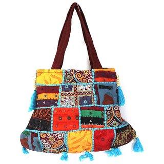 Fortunedeals Rajasthani Handbag Ethnic Jaipuri Bag Handmade Jhola ...