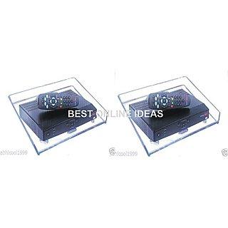 SET OF 2 PCS WALL MOUNT CRYSTAL STAND/SHELF FOR SET TOP BOX, TATA SKY/AIRTEL DTH,DISH TV/VIDEOCON D2H ETC