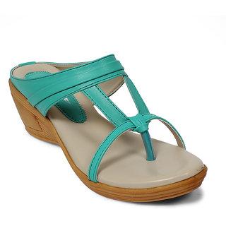 Bellafoz fashionable Sea Green Sandals