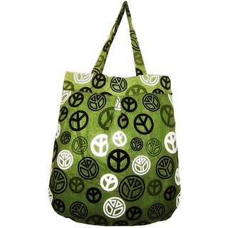 Stylish Olive Green Canvas Beach Hand Bag