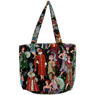 Stylish Multi Color Poly Cotton Tote Bag