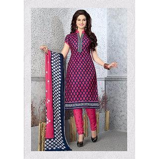 Fashion Curves - Unstiched Pure Cotton Dress Material