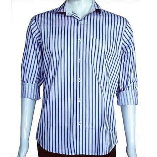 Semi Formal Shirts With Blue Stripes