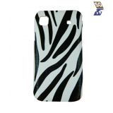 Sg Snap On Back Cover With Zebra Fur Finish White And Black For Samsung Galaxy S