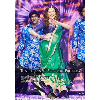 Madhuri Dixit Green Bollywood Style Saree