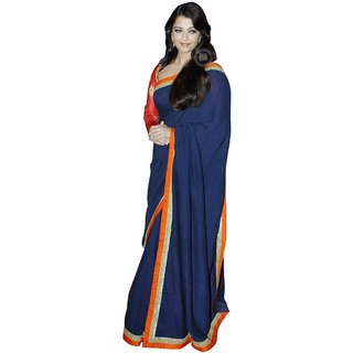 Aishwarya Rai Bachchan In Blue Designer Bollywood Saree